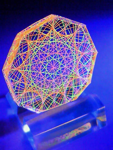 蛍光糸張りクリスタルレジン九角形のオーロラ観覧車