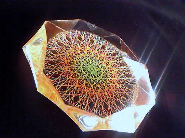 蛍光糸張りクリスタルレジンオーロラ十八花冠