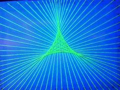 蛍光糸張り蛍三角星プロセス