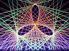 蛍光糸張り極光の三つ葉