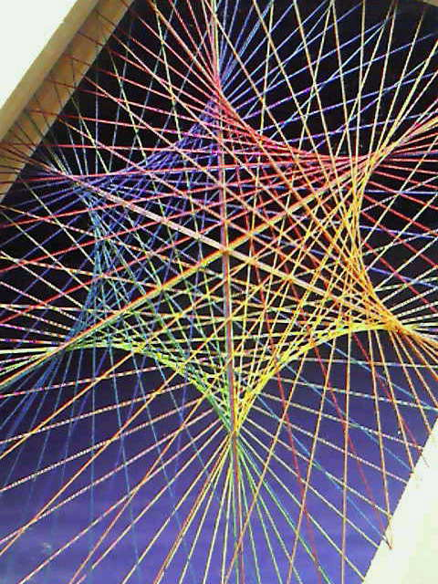 糸張り六角星0