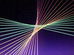 蛍光糸張りオーロラが織る星プロセス