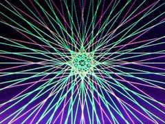 蛍光糸張り響き合うアステロイドプロセス