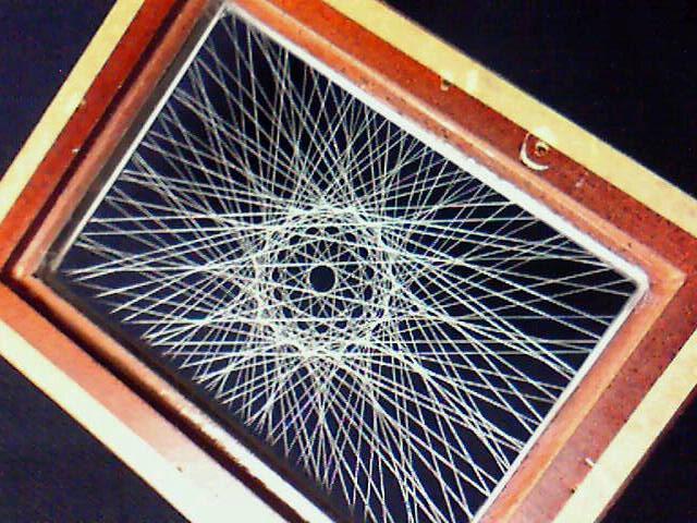 蛍光糸張り十五角の蛍織珠