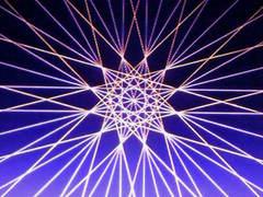 蛍光糸張り十二角形のオーロラ観覧車プロセス