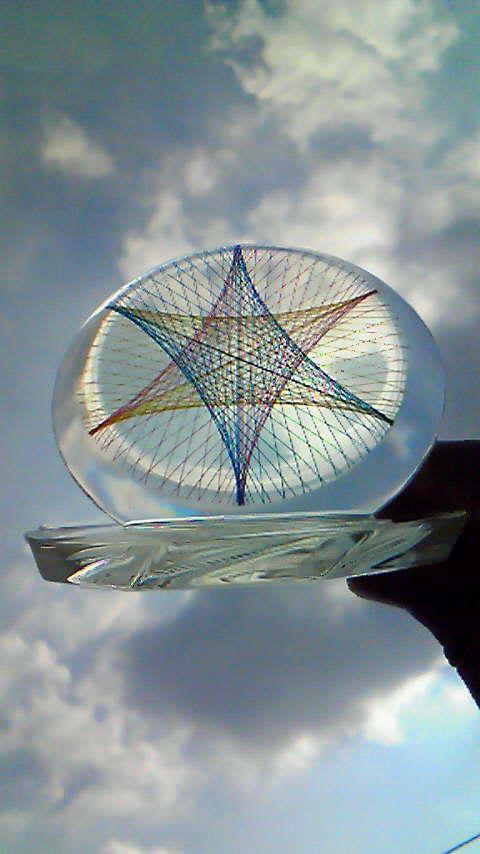糸張りクリスタルレジン三光帯10