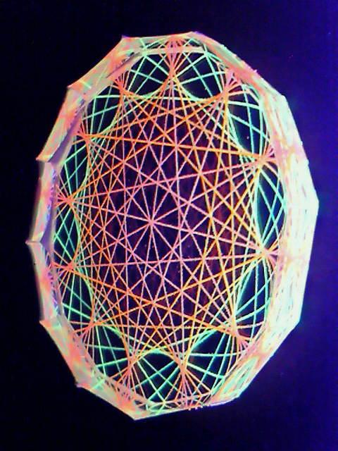 蛍光糸張りクリスタルレジン十に角形のオーロラ観覧車