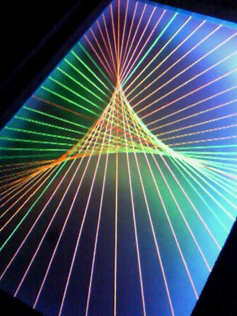 蛍光糸張り極光小三角星
