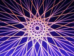 蛍光糸張り十五角オーロラ珠プロセス