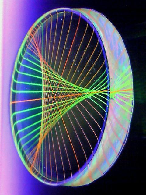 蛍光糸張りクリスタルレジン極光三角星