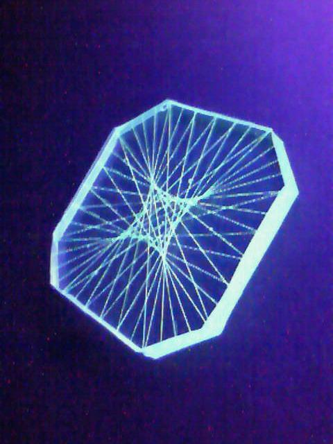 コンパクト蛍光糸張りクリスタルレジン蛍小アステロイド
