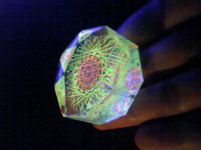 蛍光糸張りクリスタルレジン極光十六片紋