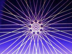 蛍光糸張り極光九片咲きプロセス