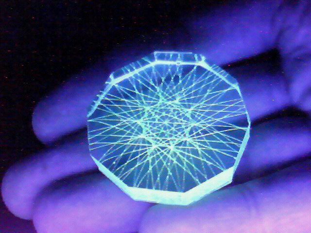コンパクト蛍光糸張りクリスタルレジン小さな光観覧車