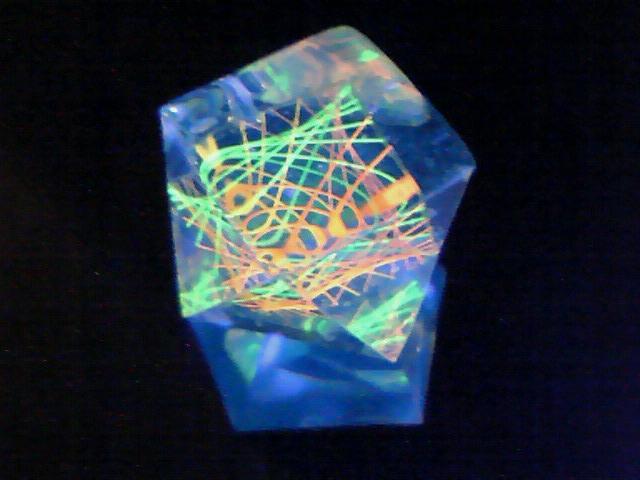 蛍光糸張りクリスタルレジン極光小アステロイド