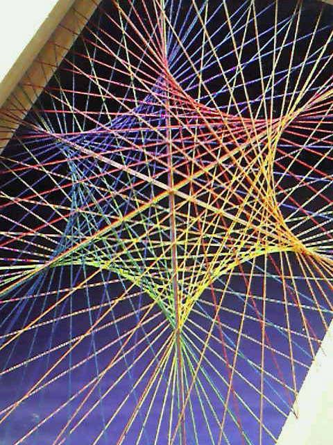 糸張り六色六角星