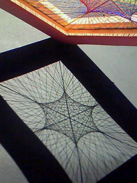 糸張り六角星3