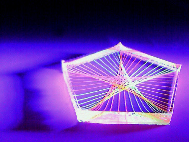 蛍光糸張りクリスタルレジンオーロラが織る星